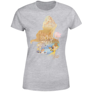 Disney Beauty And The Beast Princess Filled Silhouette Belle Women's T-Shirt - Grey