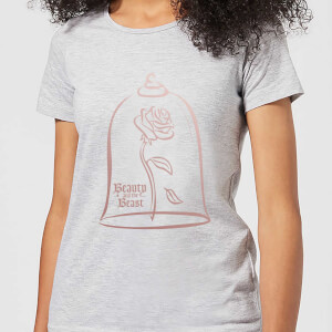 Disney Beauty And The Beast Rose Gold Women's T-Shirt - Grey