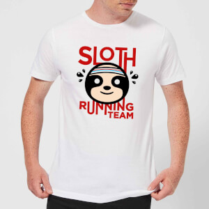 Sloth Running Team T-Shirt - White