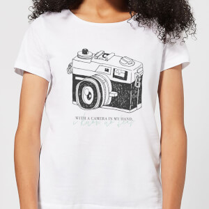 With A Camera In My Hand, I Know No Fear Women's T-Shirt - White