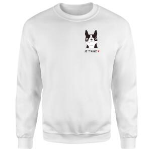 Je'Taime Sweatshirt - White