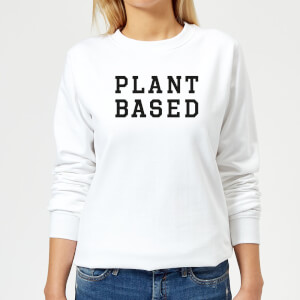 Plant Based Women's Sweatshirt - White