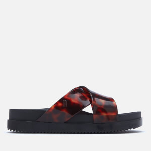 Melissa Women's Cosmic Cross Flatform Sandals - Black Tortoiseshell