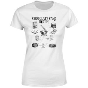 Chocolate Cake Recipe Women's T-Shirt - White