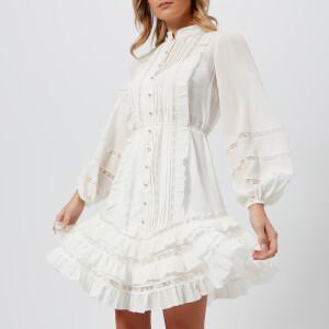 Zimmermann Women's Breeze Pintuck Mini Dress - Pearl
