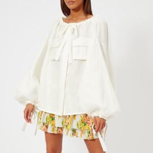 Zimmermann Women's Golden Safari Shirt - White