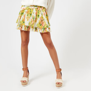 Zimmermann Women's Golden Surfer Skirt - Citrus Stamp Floral
