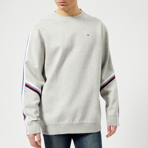 Tommy Jeans Men's Racing Stripe Sweatshirt - Light Grey Heather