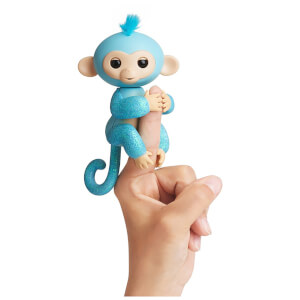 Fingerlings Baby Monkey - Glitter - Amelia (Turquoise)
