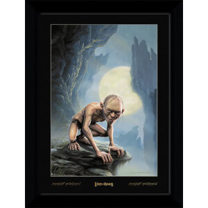 Lord of The Rings Gollum Collector's 50 x 70cm Framed Photograph