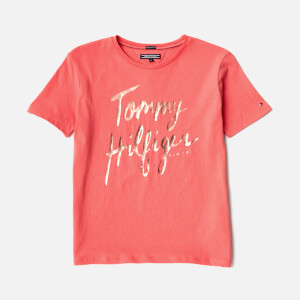 Tommy Hilfiger Girls' Ame T-Shirt - Spiced Coral