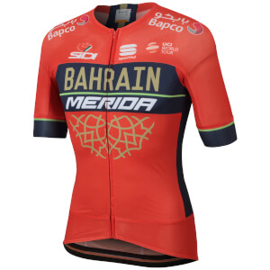 Sportful Men's Bahrain Merida BodyFit Evo Race Jersey