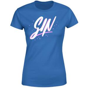 Gin Script Women's T-Shirt - Royal Blue