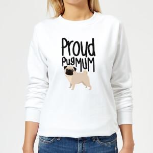 Proud Pug Mum Women's Sweatshirt - White