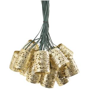 Elan Solar Copper Scroll Lantern Fairy Lights