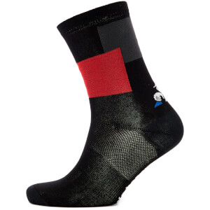 Le Coq Sportif Tour de France 2018 L'Enfer Du Nord Socks - Black/Red