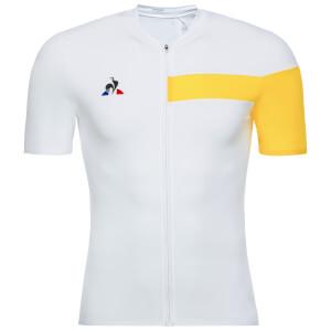 Le Coq Sportif Pro Jersey - White/Yellow