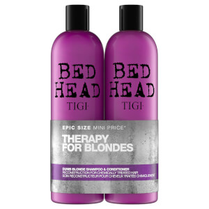 TIGI Bed Head Dumb Blonde Repair Shampoo and Reconstructor for Coloured Hair 2 x 750ml Duo (Worth $67)