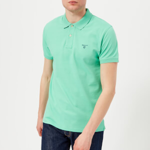 GANT Men's Contrast Collar Polo Shirt - Spearmint