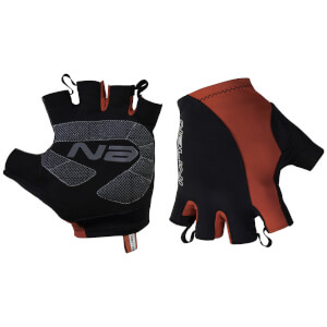 Nalini Logo Mitts - Black/Red
