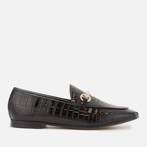 Dune Women's Guilt Leather Loafers - Black