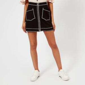 McQ Alexander McQueen Women's Contrast Line Skirt - Darkest Black