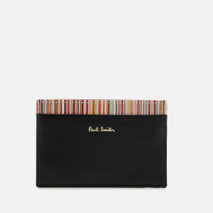 Paul Smith Accessories Men's Stripe Detail Credit Card Case - Black