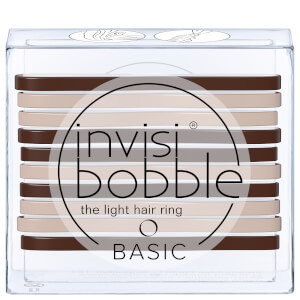 invisibobble Basic The Light Hair Ring - Mocca and Cream (10 Pack)