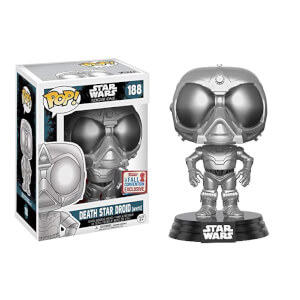 Figurine Pop! Chrome Death Star Droid EXC - Star Wars: Rogue One