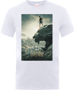 "Camiseta Marvel Black Panther ""Póster"" - Hombre - Blanco"