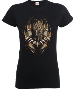 Black Panther Gold Eril Frauen T-Shirt - Schwarz