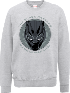 Sweat Homme Black Panther Made in Wakanda - Gris