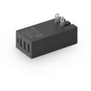 Native Union Smart 4 Port Charge USB Fabric Charger - Slate: Image 2