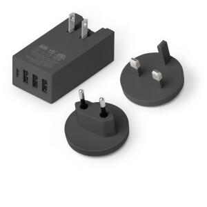 Native Union Smart 4 Port Charge USB Fabric Charger - Slate: Image 4