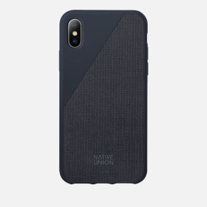 Native Union Clic Canvas - iPhone X Case - Marine