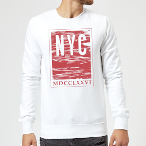 Sweat Homme NYC Roman - Blanc