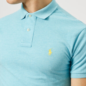 Polo Ralph Lauren Men's Slim Fit Basic Mesh Polo Shirt - Watch Hill Blue Heather: Image 4