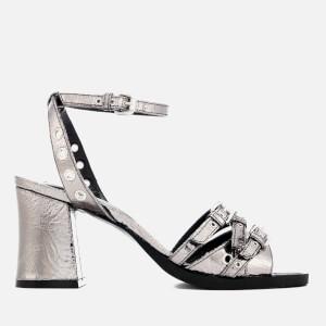 McQ Alexander McQueen Women's Angel Eyelet Heel Sandals - Silver