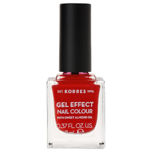 KORRES Gel-Effect Sweet Almond Nail Colour – 53 Royal Red 11 ml