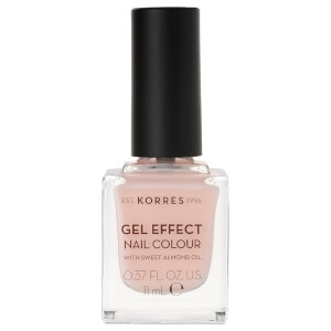 KORRES Gel-Effect Sweet Almond Nail Colour - 04 Peony Pink 11ml