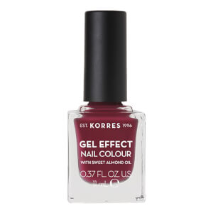 KORRES Natural Gel Effect Nail Colour - Berry Addict 11ml