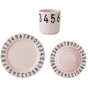 Design Letters Kids' Collection Melamine Numbers Gift Set - Pink
