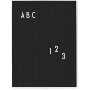 Design Letters A4 Message Board - Black