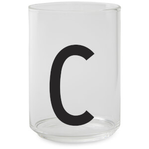 Design Letters Drinking Glass - C