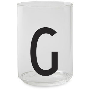 Design Letters Drinking Glass - G