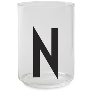 Design Letters Drinking Glass - N