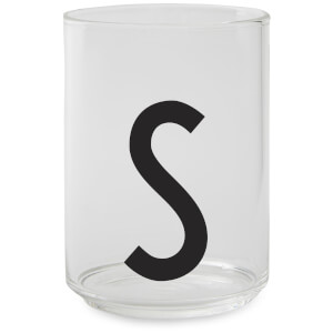 Design Letters Drinking Glass - S
