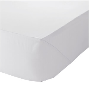 Catherine Lansfield Easy Iron Percale Fitted Sheet - White