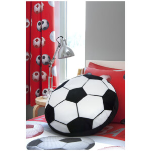 Catherine Lansfield Football Curtains - Red - 168 x 183cm