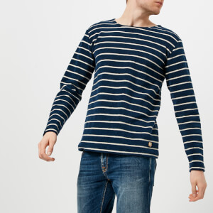 Armor Lux Men's Marinière Héritage Long Sleeve T-Shirt - Aviso/Nature